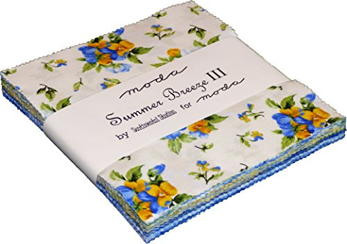 "Summer Breeze III Moda Charm Pack By Sentimental Studios; 42 - 5"" Quilt Squares"