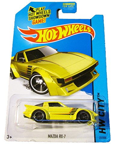 2014 Hot Wheels HW City Mazda RX-7 21/250 (Yellow)