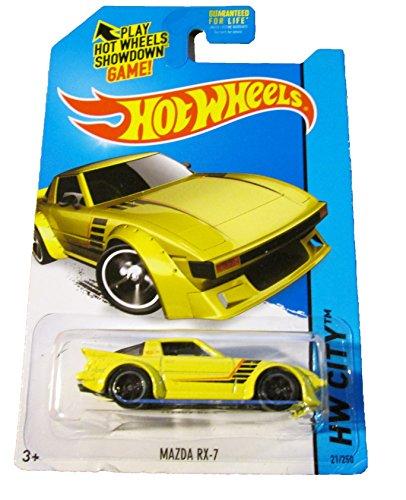 2014 Hot Wheels HW City Mazda RX-7 21/250 (Yellow)