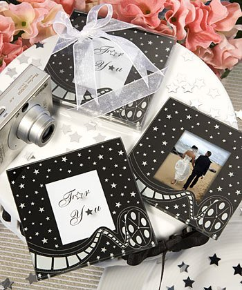 Hollywood Movie Themed Glass Coaster Wedding Favors, 24