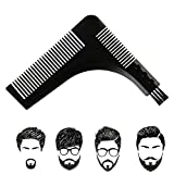 Beard Styling Comb for Men, Beard Shaper Tool Mustache Styler Shaping Template Comb and Brush