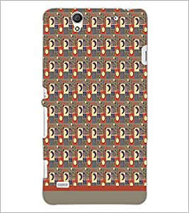PrintDhaba Sun Moon Pattern D-1495 Back Case Cover for SONY XPERIA C4 (Multi-Coloured)