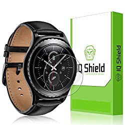 IQ Shield LiQuidSkin (6-Pack) - Samsung Gear S2 Classic Screen Protector - HD Ultra Clear Film - Protective Guard - Extremely Smooth / Self-Healing / Bubble-Free Shield