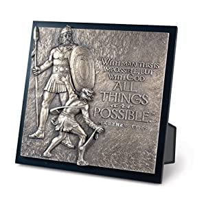 David And Goliath Moments Of Faith Sculpture Plaque All Things LCP