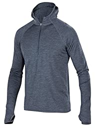 Ibex Outdoor Clothing Men\'s Hooded Indie Hoody, Pewter Heather, Small