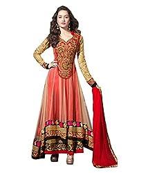 vaidehi creation women Net Embroidary dress (Red)