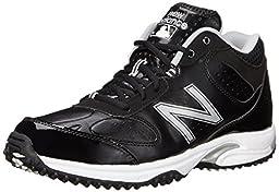 New Balance Men\'s Baseball Umpire Mid Baseball Shoe,Black/Grey,7 D US