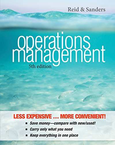 Operations Management, 5e Binder Ready Version + WileyPLUS Registration Card