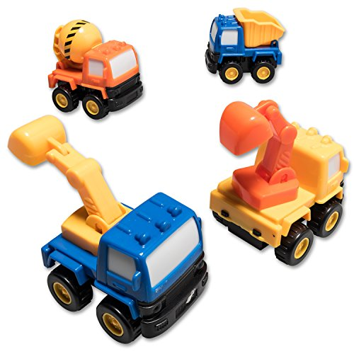 Construction Vehicle Toys For Boys : Prextex pull back and go construction vehicle stocking