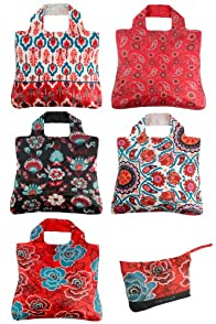 Envirosax Anastasia Reusable Shopping Bags 5-pack
