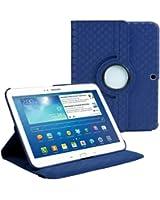 """Stuff4 MR-GT310.1-L360-PAT-DMND-B-STY-SP Housse avec rotation à 360° pour Samsung Galaxy Tab 3 10,1"""" (P5200 / P5210) Film de protection et Stylet inclus Bleu Marine Diamant"""