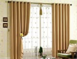 Wheat Wide Width Solid Grommet Top Thermal Insulated Blackout Curtain (100''WX84''L)