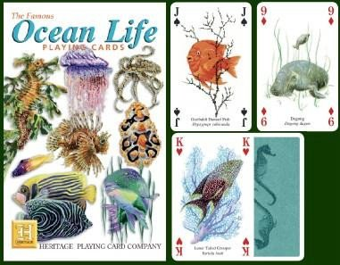 The Famous Ocean Life Playing Cards