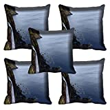 meSleep Nature 030-05 Digitally Printed Cushion Cover (16x16) - Set of 5