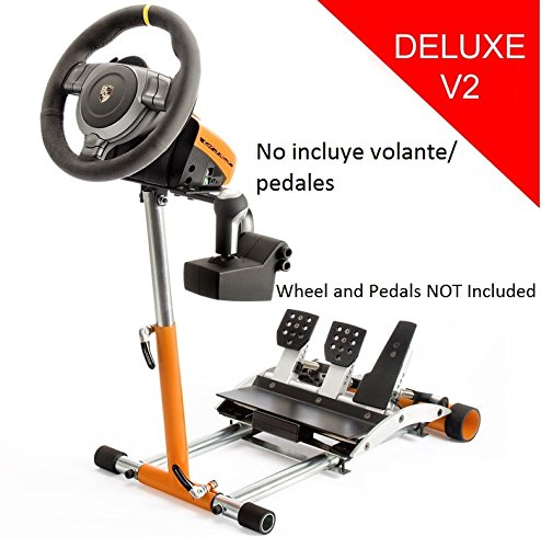 Racing Steering Wheelstand for Fanatec GT2/GT3RS, CSP/CSP V2/V3, CSR/CSR Elite w/CSP/CSR/CSRElite Pedals. V2 Deluxe Wheel Stand Pro stand - Black. Wheel and Pedals Not included. (Fanatec Csr Racing Wheel compare prices)