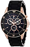 Swiss Legend Womens 93609-RG-11 Luminoso Analog Display Swiss Quartz Black Watch
