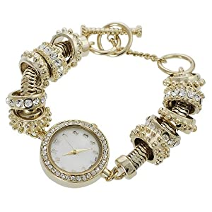 GP Designs Women's Rhinestone-accented Toggle Watch