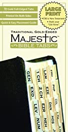Majestic Bible Tabs: Traditional Gold-Edged