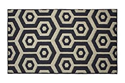 Jean Pierre Honeycomb Textured Decorative Accent Rug, 28 x 48\