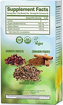 Löwenzahnwurzeltee - natürlicher vitaminreicher verdauungsfördernder Biotee von Kiss Me Organics auf Gewürze Shop