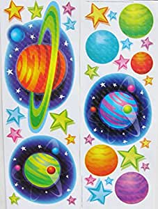 buy main street wall creations jumbo stickers planets