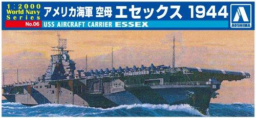 AOSHIMA 009376 1/2000 USS Aircraft Carrier Essex - 1