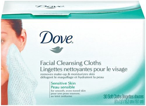 Dove Sensitive Essentials Cleansing Cloths, Refill, 30 Count (Pack of 3)