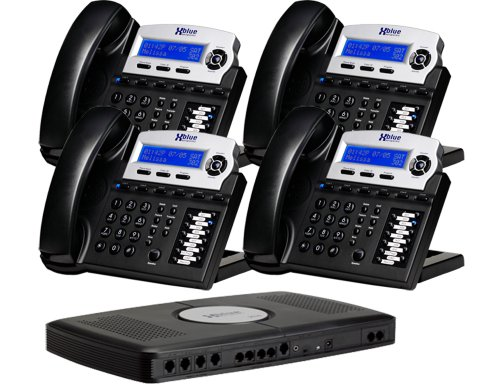 X16 Small Office Digital Phone System Bundle With 4 Phones Charcoal Phone Model: X16 Dte ~Server / Base Control Unit Model: X16Vss