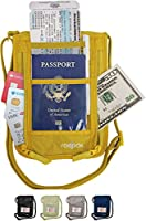 Travel Neck Wallet, Boarding Pass Ticket Organizer Pouch for Passports and Kindle