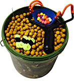 5L Bucket With Boilies, Robust Catapult, Rig Tools & PopUps (Sweetcorn - Yellow)