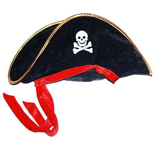 Huafeiwude Unisex Halloween Costume Accessory Pirates of the Caribbean Hat Black (Adult Scary Darth Vader Costume)
