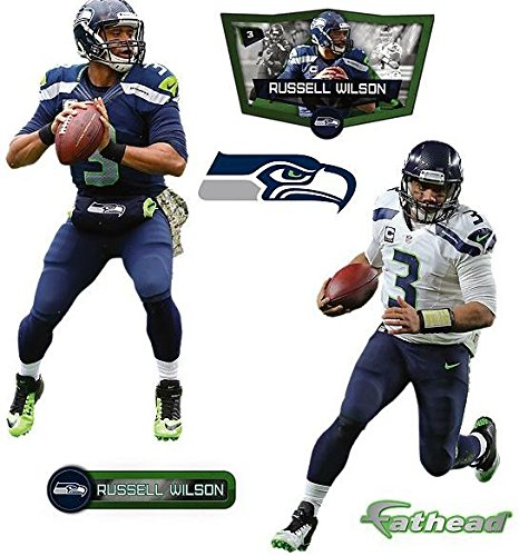 Russell-Wilson-FATHEAD-Seattle-Seahawks-Logo-Set-of-5-NFL-Vinyl-Wall-Graphics-17-INCH
