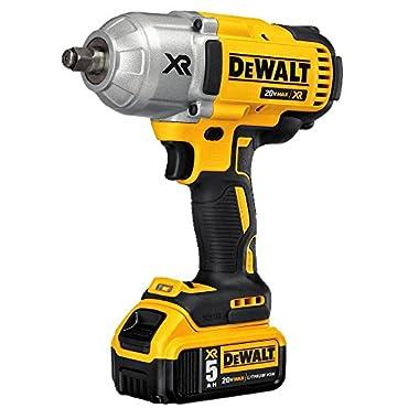DeWalt DCF899HP2 20V MAX XR Brushless High Torque 1/2 Impact Wrench Kit with Hog Ring Anvil