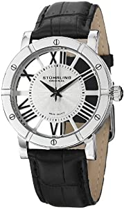 "Stuhrling Original Men's 881.01 ""Classic"" Stainless Steel Watch with Leather Band"