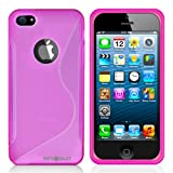 MiniSuit S Shape Case for Apple iPhone 5 - TPU Silicone Skin Cover (Pink)