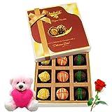 Yummy Best Chocolates With Teddy And Rose - Chocholik Luxury Chocolates