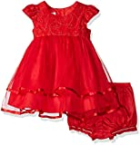 Marmellata Girls Pretty Party Dress, Holiday Red, 24M