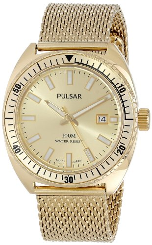 Pulsar Bracelet Champagne Dial Men's Watch #PS9230