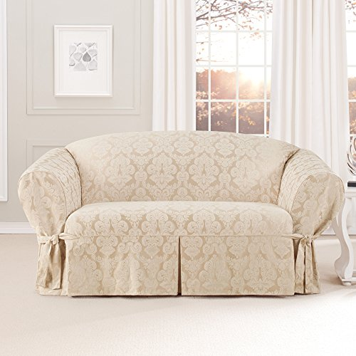 Sure Fit Middleton Loveseat Slipcover, Champagne front-791491