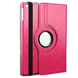 iBenzer iPad Air 1 case - 360 Rotating Folio Smart Leather New Designed Case Cover For Apple iPad Air 1 with Wake & Sleep Function - Rose IP5-360RS