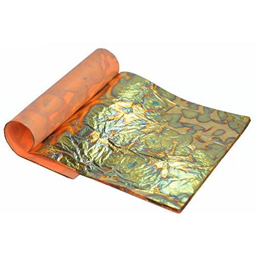 variegated-gold-leaf-colour-green-14-x14cm-25-sheets-booklet