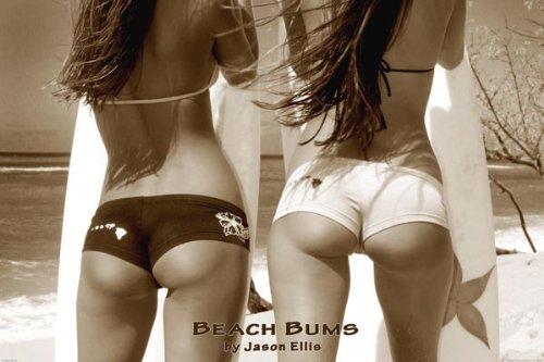 Beach Bums - Girls On Beach, Photo Print Poster - 24x36