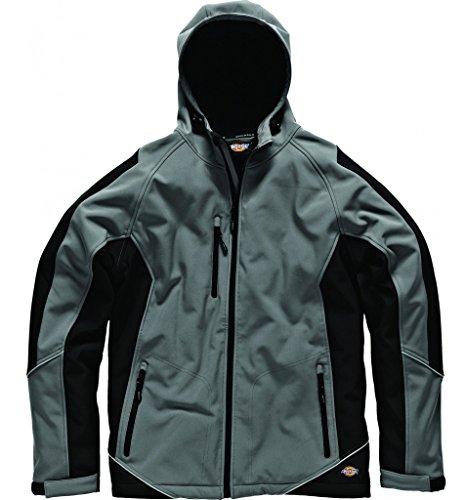 Dickies Bicolore Giacca Softshell Impermeabile Cappotto in pile lavoro Workwear Grigio grigio/nero