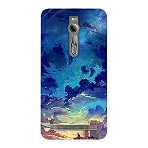 Stylish Cloud Art Back Case Cover for Asus Zenfone 2