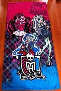 "Monster High Beach / Bath Towel - Full Size approx 30"" x 60"""