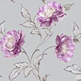 Bronte Motif Plum Wallpaper - Arthouse