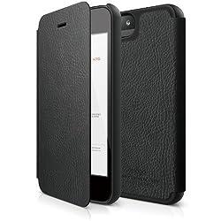 elago S5 Leather Flip for iPhone 5/5S - eco friendly (Black