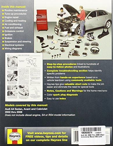 Audi A4: 2002 Thru 2008 (Haynes Automotive Repair Manuals)