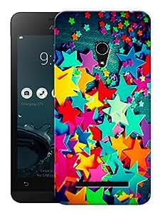 "Humor Gang Colorful Stars Printed Designer Mobile Back Cover For ""Asus Zenfone 6"" (3D, Matte, Premium Quality Snap On Case)"