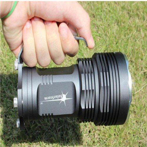 Maxsale Solarstorm Racing M6 5X T6 4000Lumen 5-Mode Led Flashlight(4*18650)